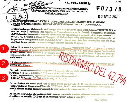 TEST SUL TUBO : UNIVERSITA' DELLA TURCHIA OTTIENE UN RISPARMIO DEL 42,7%